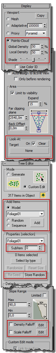 Forest Pack interface